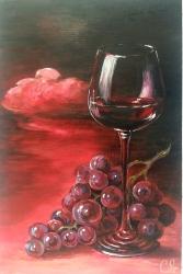 """Картина """"Бокал вина"""". Размер 20х30. Акрил. Холст"""