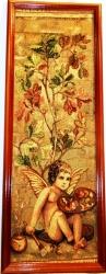 """Картина гобеленовая """"Амур""""в деревянной рамке.Размер 28х82. Росси"""