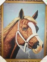 """Картина гобеленовая """"Лошадь"""". Размер 63х80.."""