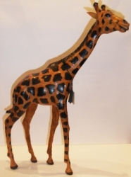 "Статуэтка, обтянутая кожей буйвола,""Жираф""."