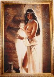 """Картина гобеленовая """"Клеопатра"""". Размер 110х70."""