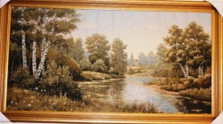 "Картина гобеленовая ""Природа"". Размер 128х68."