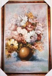 """Картина гобеленовая """"Розовая мечта"""". Размер 112х76. Бельгия."""