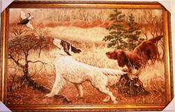 """картина гобеленовая """"Удачная охота"""".Размер 99х62 см."""