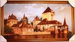 """Картина гобеленовая """"Замок"""". Размер 146х82."""