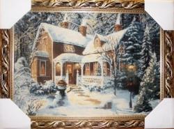 """Картина гобеленовая """"Рождество"""". Размер 77х58. Бельгия"""