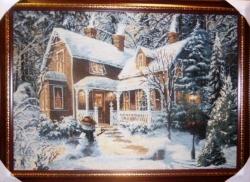 """Картина гобеленовая """"Рождество"""". Бельгия."""