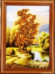 "Ключница ""Природа"". Дерево. Размер 24х34."