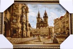 """Картина гобеленовая """"Прага"""". Размер 60х40.Россия."""