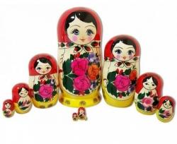 Матрёшка 10 кукол. Высота 27 см. Россия.