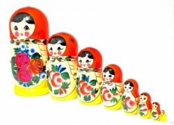 Матрёшка 8 кукол. 22см. Россия.