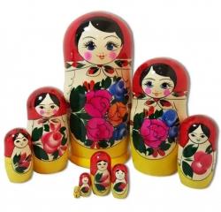 Матрёшка 9 кукол. Высота 25 см. Россия
