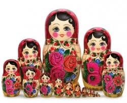 Матрёшка.15 кукол. Высота 34 см.Россия.