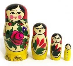 Матрёшка. Комплект из 4-х кукол. Дерево. Россия.